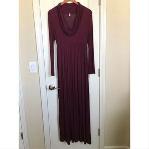 Pinkblush Maternity Burgundy Maxi Dress